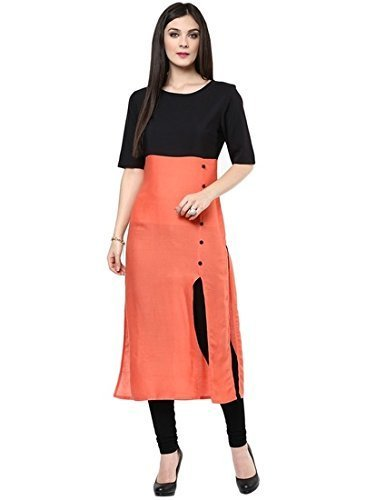 Mahavir Fashion Women\'s Cotton Kurti.(MF_7107_Orange)