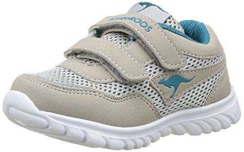 KangaROOS Inlite 3003b Unisex Baby Sneaker Grau - Gris (Lt Grey/Dk Smaragd 282)