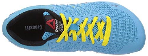 Reebok Crossfit Nano 4.0, Chaussures de sports en salle Femme Bleu (neon Blue/stinger Yellow/white/black)