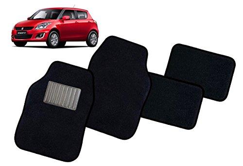 Menitashop tappeti set 4 tappetini per auto universali neri antiscivolo moquette buona qualità