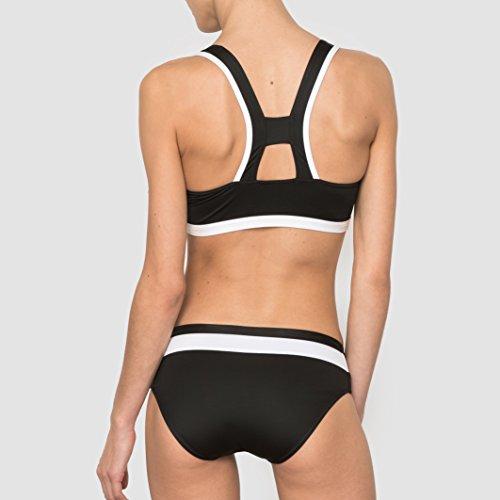 R Edition Frau Bikini schwarz/weiss