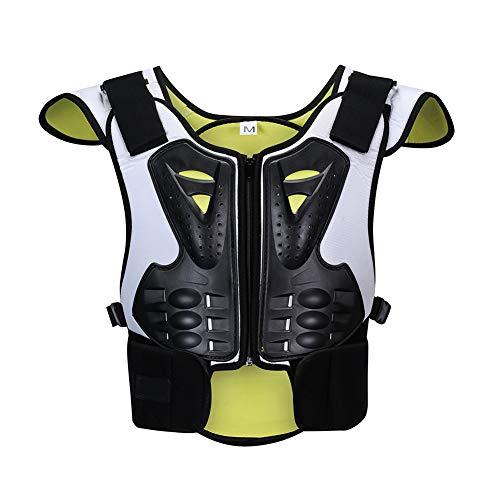 TZTED Rückenprotektor zum Umschnallen Reflektierendes Skaten für Kinder Ski Extreme Sportschutzausrüstung Hintere Brust Sportschutz,M