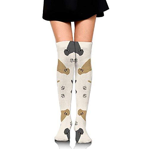 quanzhouxuhuixiefu Tiny Labrador Retrievers Training Socks Crew Athletic Socks Long Sport Soccer Socks Soft Knee High Sock Compression Socks for Men Women 50CM -