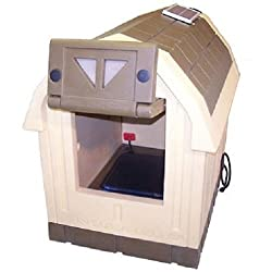 Asl Solutions Deluxe Dog Palace Large Doghouse - Includes Heater & Fan