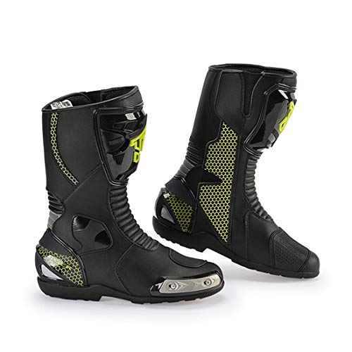 LLC-CLAYMORE Super Street Men es Motorcycle Riding Boots, Black,US10/EU45 Mens Street Motorcycle Boots
