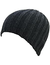 Ribbed Knit Skull Beanies - 5 Colours Available (CHARCOAL GREY)