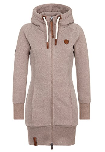 Naketano Female Zipped Jacket F... Me 2 Times! Djubre Melange, XL (2 Hoody)