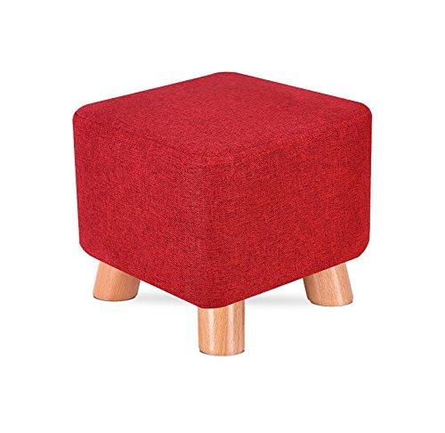SZQ-Fußbank Ändern Sie die Schuh-Bank, den in hohem Grade elastischen Schwamm-niedrigen Schemel-Kaffeetisch-Sofa-Kindergarten-Stuhl, der das starke reinigbare trägt Tritthocker ( Color : Red dates )