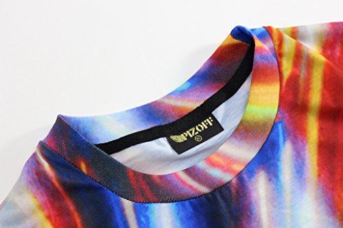 ... Pizoff Unisex Digital Print Beach Urlaub Langes T Shirts mit Katzen  Landschaft Tier Muster Y1726- ...