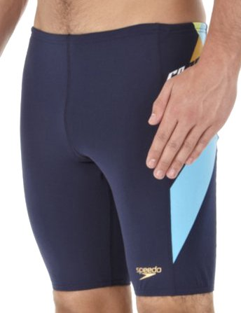 Speedo Maillot de bain pour homme fluide Dive Jammer Bleu - navy/turquoise/retro gold/ hydro green