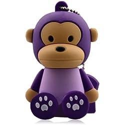Mono púrpura Memoria USB 2.0 - 16 GB (disponible 8, 32 y 64 GB)