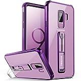Handyhülle Samsung Galaxy S9 Plus , Ständer Transparent Weiche Silikon Lila Durchsichtig Bumper Kratzfeste Klar Schutzhülle für Samsung S9 Plus (lilac purple)