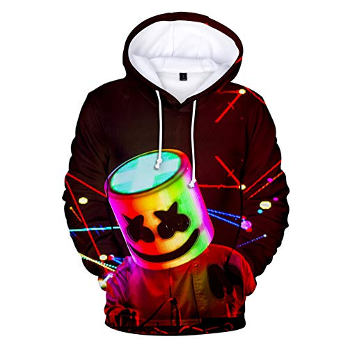 ZIGJOY Unisex Marshmello Fans Hoodie 3D Gedruckter Pullover Cooles Sweatshirt für Fans Style5 XS - Fun Kids Sweatshirt