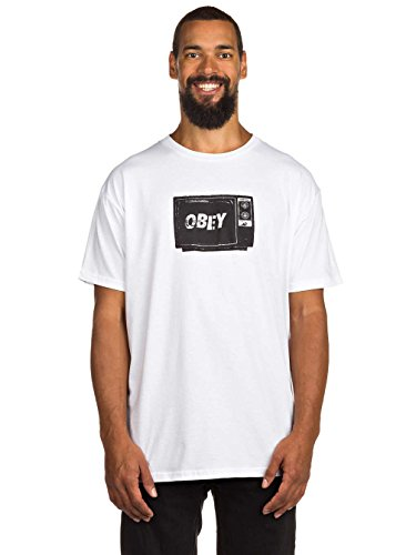Herren T-Shirt Obey What To Think T-Shirt White
