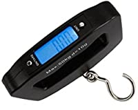 Everyday Desire Luggage Travel Weighing Scales - 50Kg Portable Handheld Electronic Digital LCD - Black