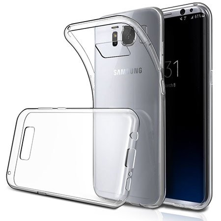 Plus Perfect Perfect Fitting High Quality 0.3mm Ultra Thin Transparent Silicon Back Cover For Samsung Galaxy S8