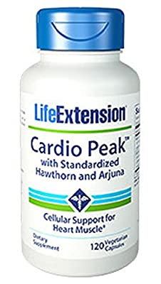 Life Extension Cardio Peak (with Standardised Hawthorn & Arjuna, 120 Vegetarian Capsules) from Life Extension