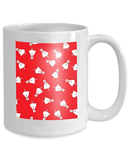 ackground Holiday Card consisting Hearts Pierced Arrows Happy Valentine s Day Colored 110z ()