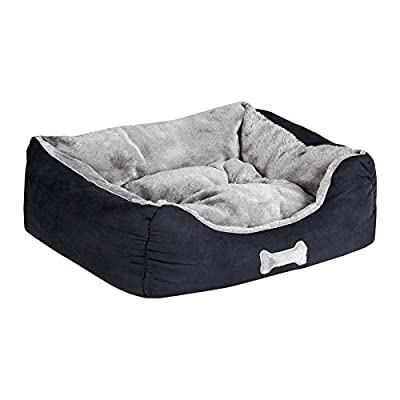 Me & My Black & Grey Small Super Soft Dog Bed from Me & My Pets