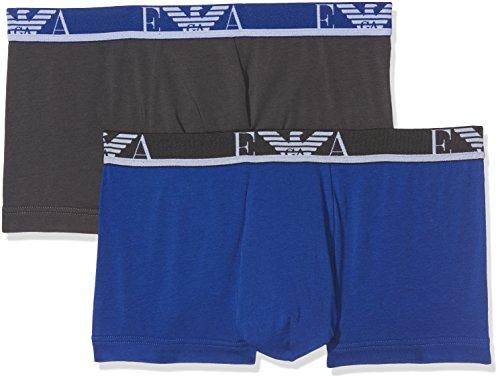 Emporio Armani Underwear Herren Boxershorts 1112107A715, Mehrfarbig (Fumo/Blu Elettrico 18444), Medium (Armani Herren-unterwäsche)