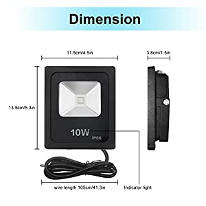 LED Flood Lights, Savvypixel 10W RGB Floodlight ,Outdoor waterproof Colour Changing Security Lights with UK 3-Plug & Remote Control from Savvypixel