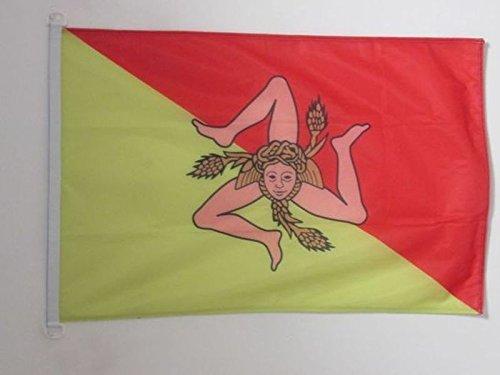 Az flag bandiera sicilia 150x90cm - bandiera siciliana - italia 90 x 150 cm speciale esterno
