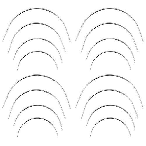 SUPVOX Agujas curvas Tipo C Agujas tejer Agujas coser