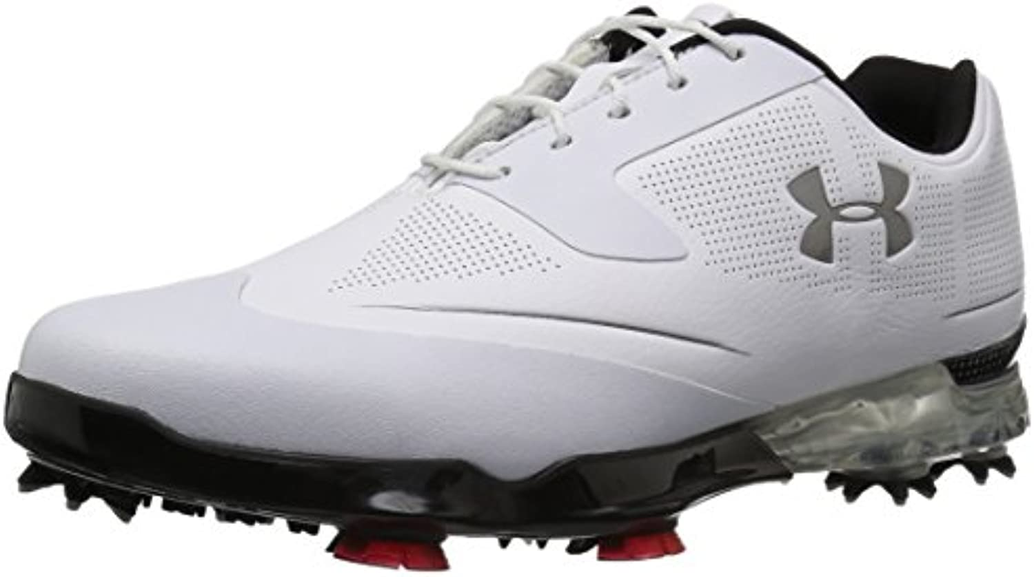 Under Armour 2017 UA Tour Tips Waterproof Mens Spikes Golf Shoes   Leather White/Black 11UK