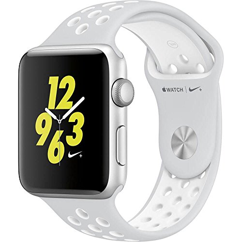 Apple Watch Nike+ 38mm Smartwatch (Silver Aluminum Case, Platinum/White Sport Band)