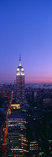 The Poster Corp Panoramic Images - Empire State Building at Sunset View from 5AV & 42nd Street New York Photo Print (91,44 x 30,48 cm) 42nd Street Photo
