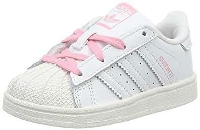 adidas Superstar I, Sneaker Unisex Bimbo, Bianco Ftwr White/Light Pink, 21 EU
