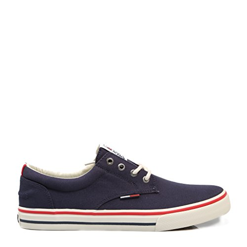 Tommy Jeans Hilfiger Denim Herren Textile Sneaker, Blau (Ink 006), 41 EU (Denim Canvas Schuhe)