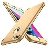 ORETECH Coque iPhone 7 Plus, Coque iPhone 8 Plus,avec [2 x Protecteur D'écran en Verre Trempé] Housse Hybride Antichoc Ultra Mince Mat Anti-Rayures PC+TPU pour iPhone 7 Plus/8 Plus Case 5.5'' Or