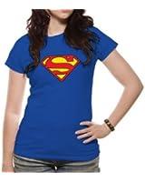 Superman Logo Skinny Fit T Shirt (Large)