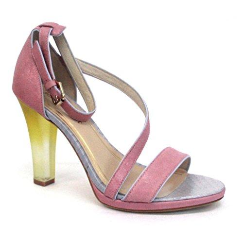 Juicy Couture a punta aperta donna, a tacco alto, misura 4, Rosa (rosa), 36.5