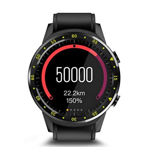 WRRAC-Monitore Intelligente Uhren Wasserdichte Sport-Digitaluhr Herren Multifunktions-Outdoor-Sport Lauf Schrittzähler mit Schlaf-Pulsmesser mit Stoppuhr Sport GPS für Android und iOS
