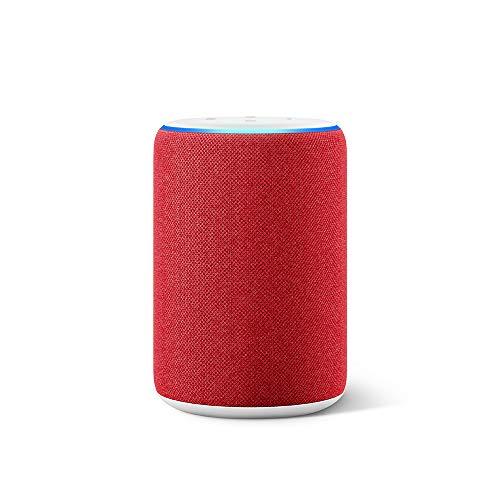 Der neue Amazon Echo (3.Generation) - smarter Lautsprecher mit Alexa, (RED) Edition