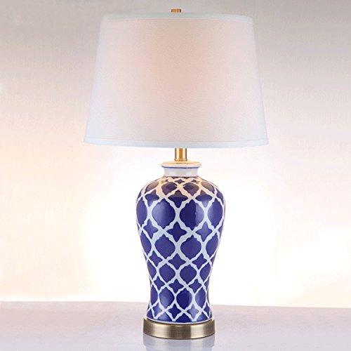 FDH L'Europe Et Le Bronze Vert Et Bleu Lampe Led Blanc, Diamètre 39,5*H66cm,220V