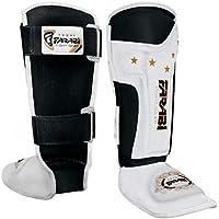 FARABI Espinilleras para niños, Kickboxing, Muay Thai, MMA espinilleras en Empeine y Protector de pies