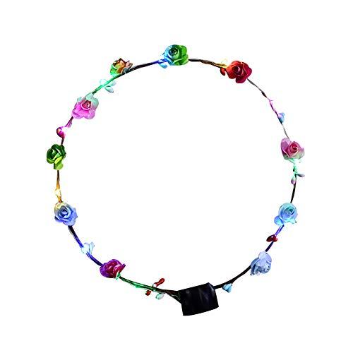 Timeracing LED-Lichtergirlande für Mädchen und Frauen, Geburtstag, Party, Konzert, Haarband, Haarband, Ohrhörer, Stirnband für Mädchen - Ohrhörer Dick
