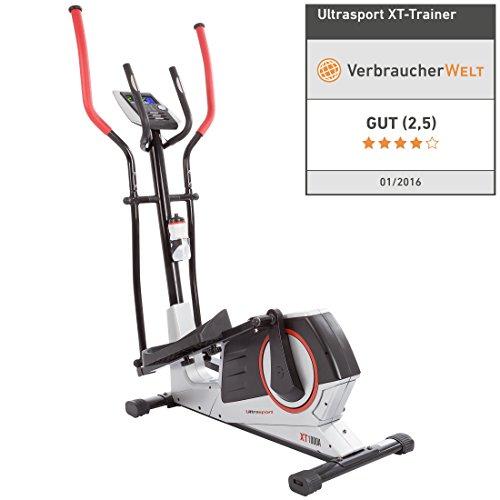 Ultrasport XT-Trainer 900M/1000A Crosstrainer/Ellipsentrainer mit Handpuls-Sensoren inkl. Trinkflasche - 2