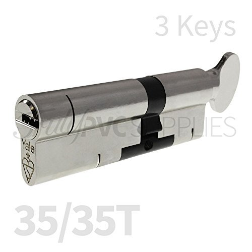 35/35T nickel Yale Superior Thumbturn cilindro con 3 chiavi/anti Snap/Bump/pick/trapano/pull ad alta sicurezza UPVC composito serratura a profilo Twist Thumb Turn Lock