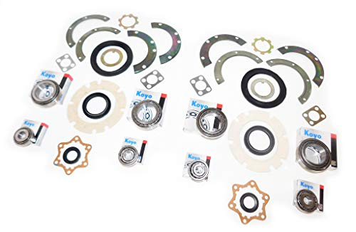 KOYO JAPAN SJ410 SJ413 FRONT AXLE & KING PIN WHEEL BEARING SWIVEL HUB  KNUCKLE OIL SEAL REBUILD REPAIR RECO KIT SAMURAI JIMNY SIERRA CARIBIAN  STOCKMAN