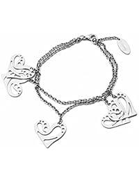 Brosway Bracelet Femme en Acier Blanc, Ligne Fantasy, Cm 21, 10 Grammes