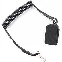 Exterior militar táctico Muelle Cuerda hebilla clave Cadena Cordón de seguridad mosquetón mosquetón con correa, - negro by Ungfu Mall