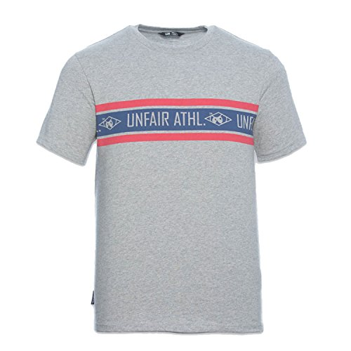 Athletic-logo T-shirt (Unfair Athletics Herren Oberteile/T-Shirt Athl. Striped Grau S)