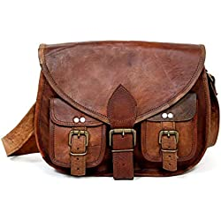 33 cm Pure Leather Girls Purse Mujeres Bolso de hombro Cross-body Satchel Tote Travel Diaper Cuero genuino