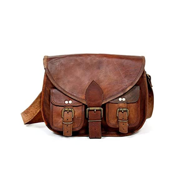 33 cm Pure Leather Girls Purse Women Shoulder Bag Cross-body Satchel Tote Travel Diaper Genuine Leather 41yVMmOt88L