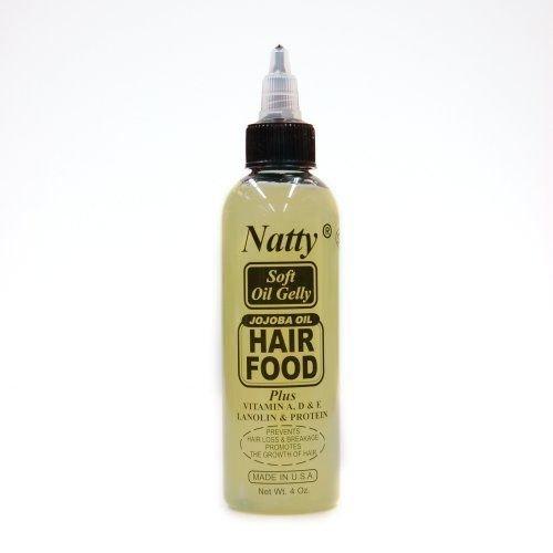 Nattys Huile de Jojoba alimentaire cheveux en vitamine A, D et E, la lanoline et Protéines 4 oz