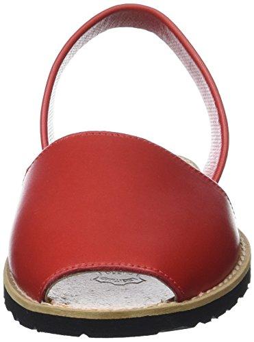 Minorquines Damen Avarca Sandalen Rouge (Pomodoro)